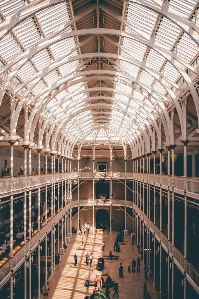 The inside of the National Museum of Scotland
