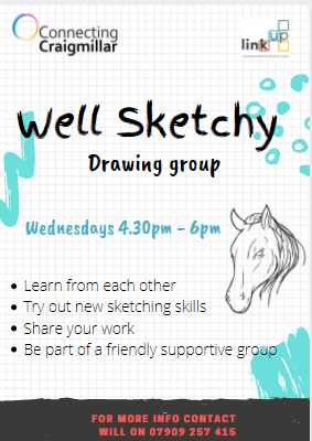 Well sketchy drawing club poster
